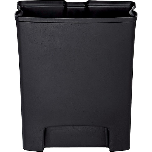 Rubbermaid® Slim Jim Rigid Plastic Liner for 8 Gallon Stainless Steel Front Step-On Trash Can, Black (1900697)