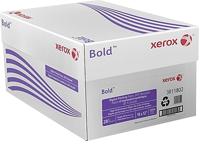Xerox® Bold™ Digital Printing Paper, 20% Recycled, 28 lb. Text, 18