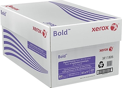 Xerox® Bold™ Digital Printing Paper, 20% Recycled, 80 lb. Cover, 8 1/2