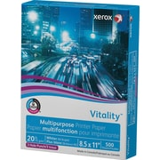 "Xerox® Vitality™ Multipurpose Printer Paper, 20 lb., 8 ½"" x 11"" 3 Hole Punch, Ream"
