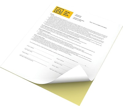 "Xerox® Revolution™ Premium Digital Carbonless Paper, 2-Part Straight/Reverse, White/Canary, 8 ½"" x 11"""