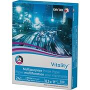 "Xerox® Vitality™ Multipurpose Printer Paper, 24 lb., 8 1/2"" x 11"", 500/Ream"