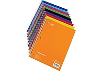 Staples®, 1 Subject Notebook, Wide Ruled, 8' x 10-1/2', Assorted Colors (27497M)