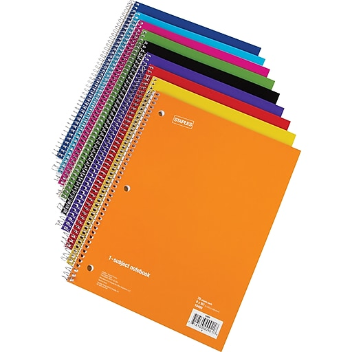 """Staples® 1 Subject Notebook, 8"""" x 10-1/2"""", College Ruled, 48 pack"""