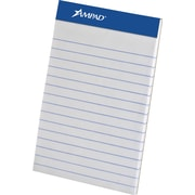 "Ampad® Mini Notepads, 3"" x 5"", Legal Rule, White, 50 Sheets/Pad, 3 Pads/Pack (20-201)"