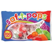 Saf-T-Pops Lollipops, Orange/Cherry/Apple/Grape, 76 Oz., 200/Pack (20182)