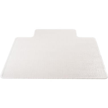 Deflecto UltraMat 45''x46'' Resin Chair Mat for Carpet, Rectangular w/Lip, Clear (DEFCM16443F)