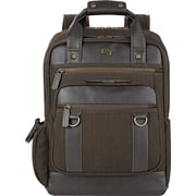 "Solo 15.6"" Bradford Laptop Backpack, Olive Denim/Espresso, 17"" x 12"" x 5"""