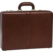 McKlein V Series, HARPER, Top Grain Cowhide Leather, Expandable Attaché Briefcase, Brown (80474)
