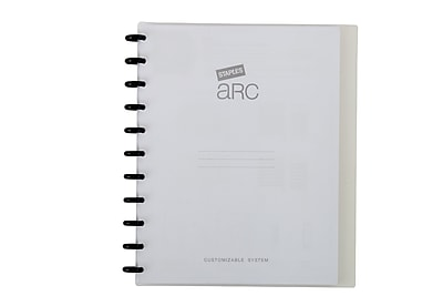 "Staples® Arc Customizable Durable Poly Notebook System, Clear, 9 3/8"" x 11 1/4"""