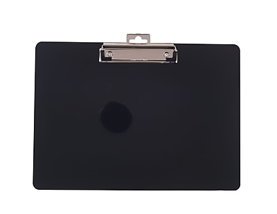 Staples® Plastic Recycled Clipboard, Landscape size, Black, 9