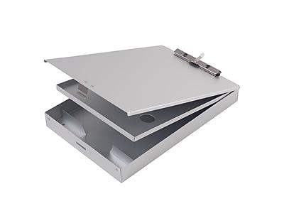 """""""""""Staples Aluminum Double Storage Document Case, Letter, Silver, 9"""""""""""""""" x 13 1/2"""""""""""""""" x 1 1/2"""""""""""""""""""""""""""" 1671315"""