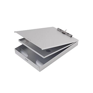 Staples® Aluminum Double Storage Document Case, Letter, Silver, 9