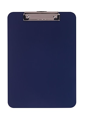 Staples® Plastic Recycled Clipboard, Letter size, Blue, 9