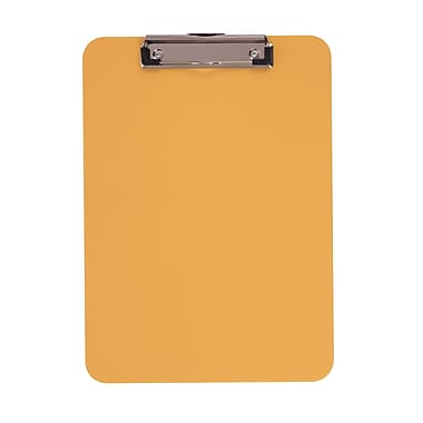 Staples® Plastic Recycled Clipboard, Letter Size, Yellow, 9