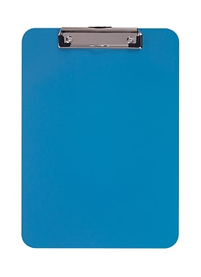 Staples® Plastic Recycled Clipboard, Letter size, Arctic Blue, 9