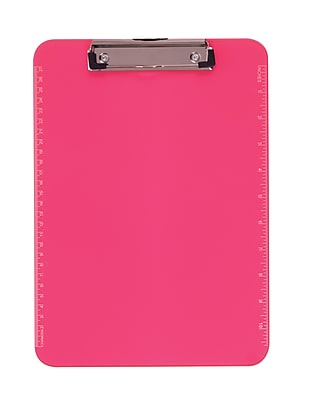 Staples® Plastic Recycled Clipboard, Letter Size, Pink, 9