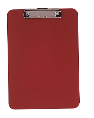 Staples® Plastic Recycled Clipboard, Letter size, Red, 9