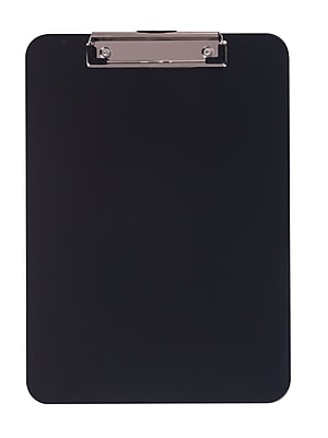 Staples® Plastic Recycled Clipboard, Letter size, Black, 9