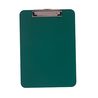 Staples® Plastic Recycled Clipboard, Letter size, Green, 9