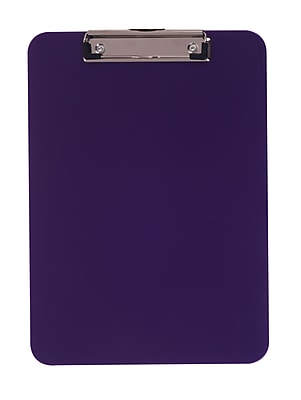 Staples® Plastic Recycled Clipboard, Letter Size, Purple, 9