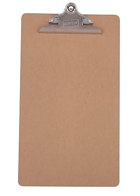 Staples® Recycled Hardboard Clipboard, Legal, Brown, 9