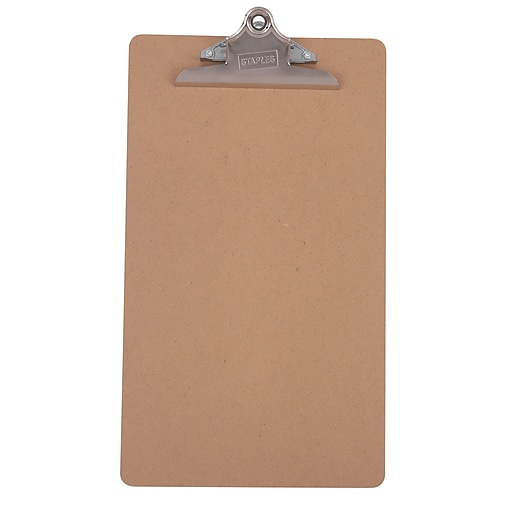 "Staples® Recycled Hardboard Clipboard, Legal, Brown, 9"" x 15 1/2"""