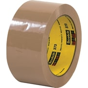 "Scotch® #373 Hot Melt Packing Tape, 2""x55 yds., Tan, 36/Case"