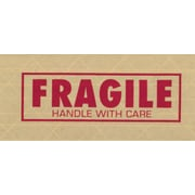 """Central 260 Pre-Printed Reinforced Tape, """"Fragile"""", 3"""" x 450', 10/Case"""