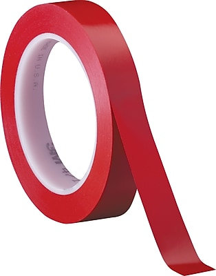 3M #471 Solid Vinyl Tape, Red, 1/2