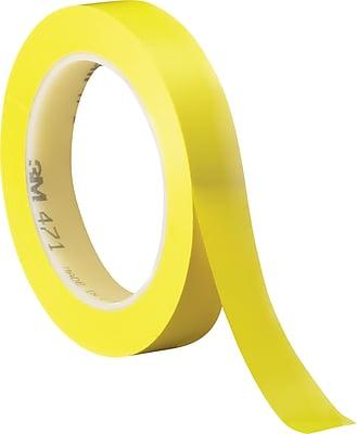 3M #471 Solid Vinyl Tape, Yellow, 3/4