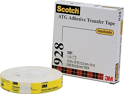 3M 928 Repositionable Adhesive Transfer Tape, 3/4