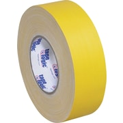 """Staples® Industrial Gaffers Tape, Yellow, 2"""" x 60 yds., 3/Pack"""