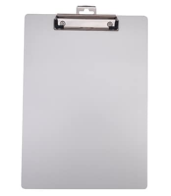 Staples® Aluminum Clipboard, Letter Size, Silver , 9