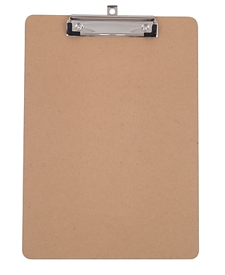 Staples® Hardboard Clipboard, Letter size, Brown, 9
