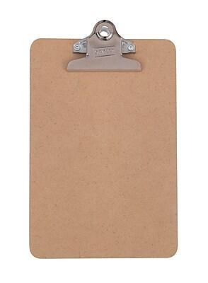 Staples Hardboard Clipboards, Memo, Brown, 6
