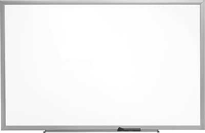 Staples Standard Melamine Whiteboard, Aluminum Finish Frame, 8'W x 4'H