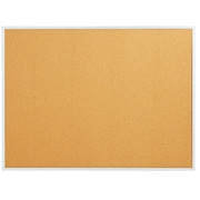 Staples Standard Cork Bulletin Board, Aluminum Finish Frame, 3'W x 2'H