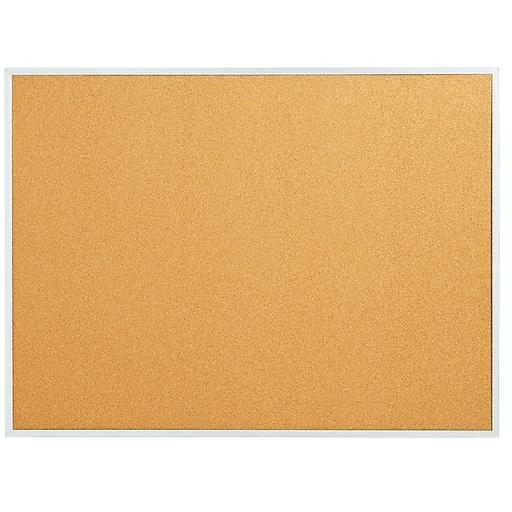 Staples Standard Durable Cork Bulletin Board, Aluminum Frame, 3'W x 2'H (28335-CC)