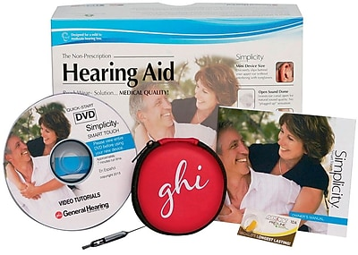 Simplicity Smart Touch Digital Hearing Aid, Gray, Pair