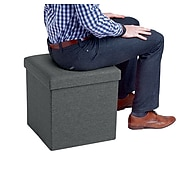 Poppin Box Seat, Dark Gray (101559)