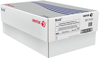 "Xerox® Bold™ Coated Gloss Digital Printing Paper, 100 lb. Text, 17"" x 11"", 1200/case"