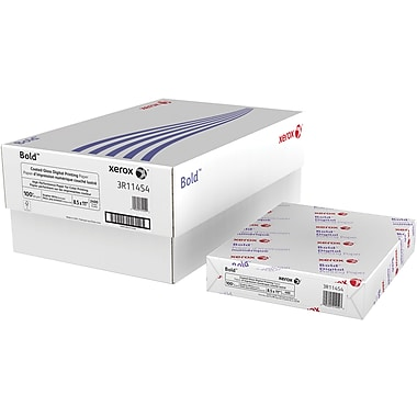 "Xerox® Bold™ Coated Gloss Digital Printing Paper, 100 lb. Text, 8 ½"" x 11"", 2400/Case"