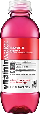 Glaceau Vitaminwater®, Power-C, Dragonfruit, 16.9 oz., 24 Bottles/Case