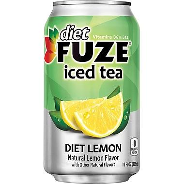 Fuze® Diet Lemon Iced Tea, 12 oz. Cans, 24/Pack