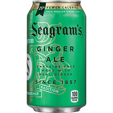 Seagram's Ginger Ale, Fridge Pack, 12 oz. cans, 24/Pack
