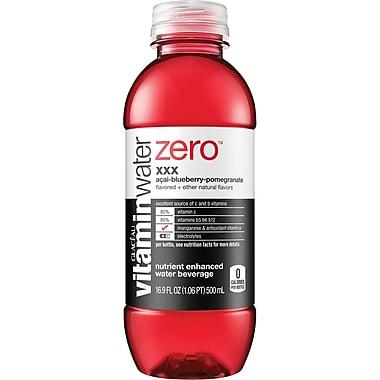 Glaceau Vitaminwater®, Zero, XXX, Acai Blueberry Pomegranate, 16.9 oz., 24 Bottles/Case
