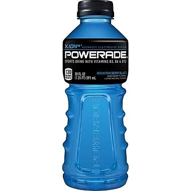 Powerade® Sports Drink, 20 oz., Mountain Berry Blast, 24 Bottles/Pack