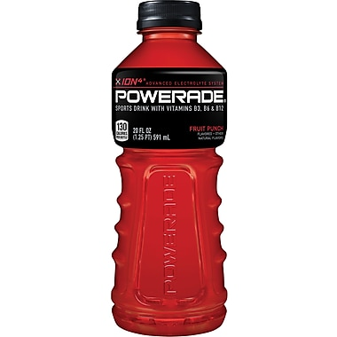 Powerade® Sports Drink, Fruit Punch, 20 oz., 24 Bottles/Pack