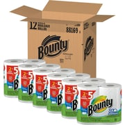 Bounty® Select-A-Size™ Paper Towels, White, 2-Ply, 158 Sheets/Roll, 12 Huge Rolls = 30 Regular Rolls (88169)